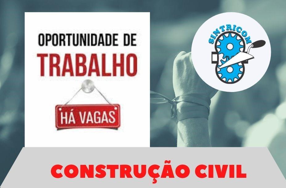 Vagas para ajudante de obras em várias cidades do Brasil