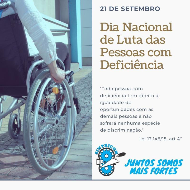 21 de Setembro: Dia Nacional de Luta das Pessoas com deficiência