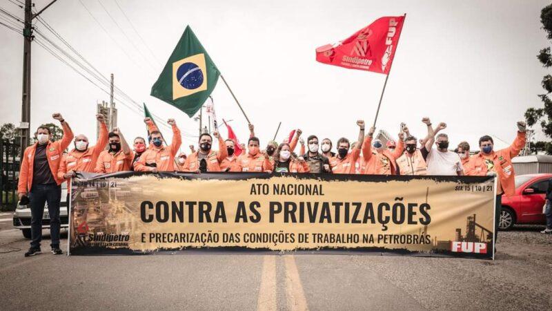 ATO CONTRA AS PRIVATIZAÇÕES E A PRECARIZAÇÃO DAS CONDIÇÕES DE TRABALHO NA PETROBRAS